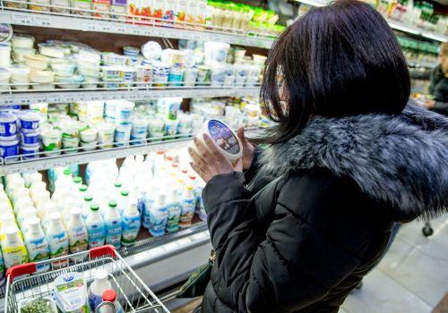 выбор молочной продукции