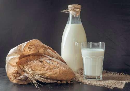 молочный продукт � хлебом