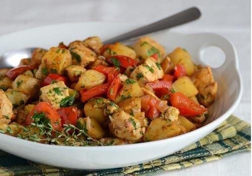 Тарелка с индейкой с овощами