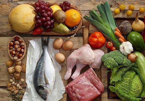Рыба, нежирное мясо, окорочка, овощи, фрукты